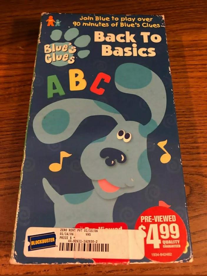 Blue's Clues: Back to Basics (1999 VHS)