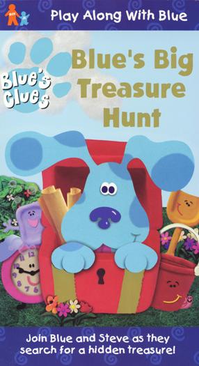 Blue's Clues: Blue's Big Treasure Hunt (1999 VHS)