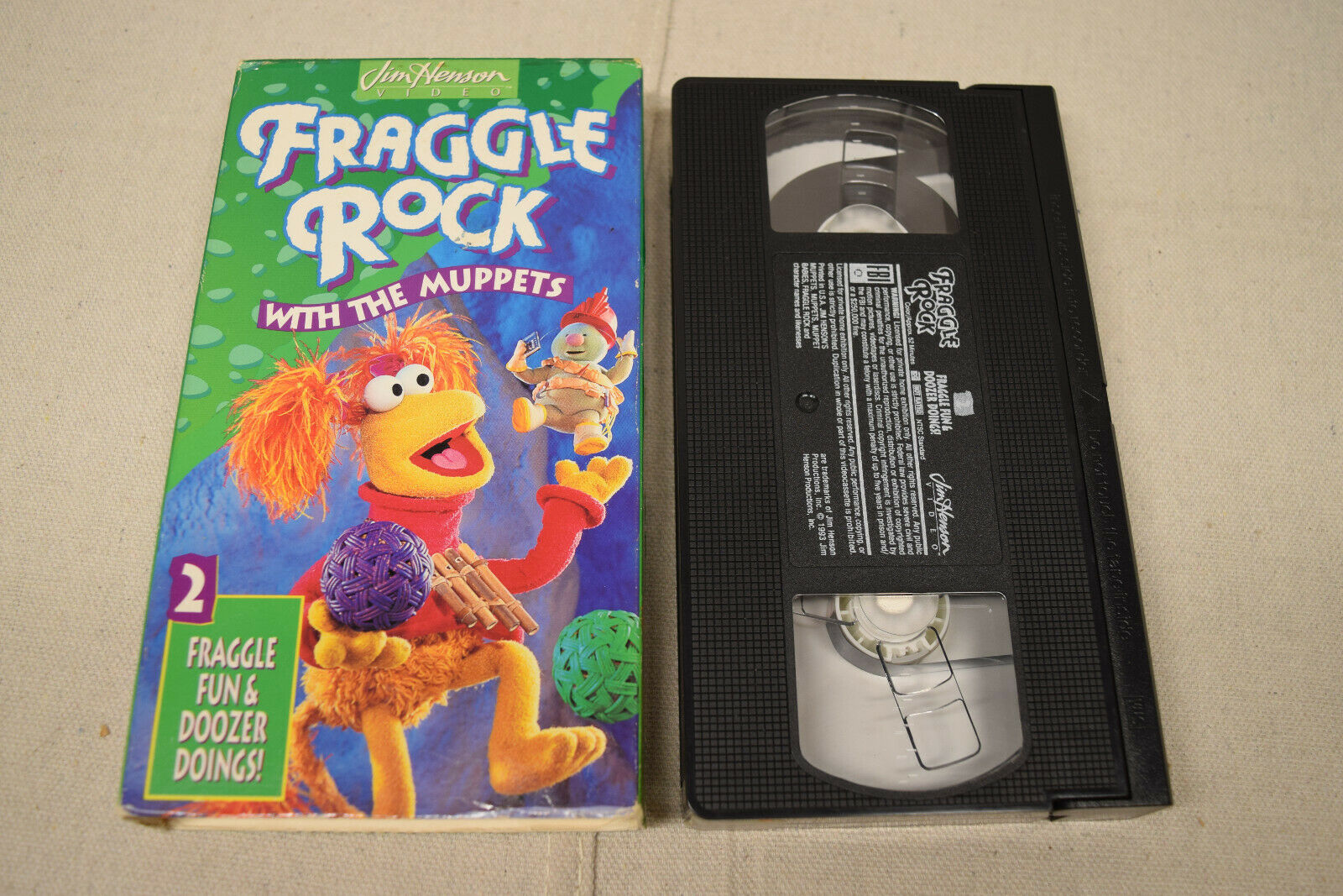 Fraggle Rock Vol. 2 Fraggle Fun and Doozer Doings (1993 VHS)