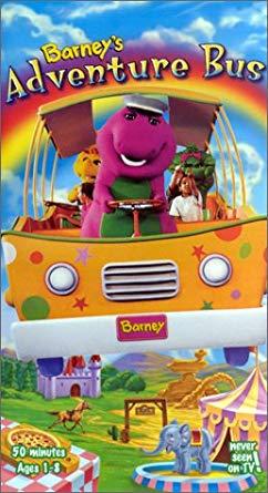 Barney's Adventure Bus (1997 VHS)