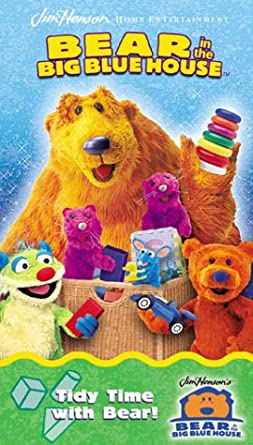Bear in the Big Blue House: Tidy Time with Bear (2002 VHS)