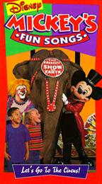 Disney's Sing-Along Songs: Let's Go to the Circus! (1994-1996 VHS)