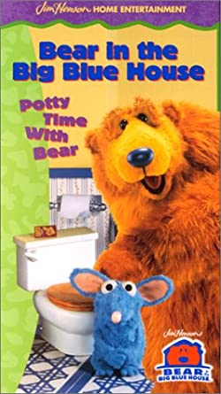 Bear in the Big Blue House: Potty Time with Bear (1999 VHS)