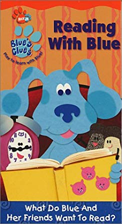 Blue's Clues: Reading with Blue (2002 VHS)