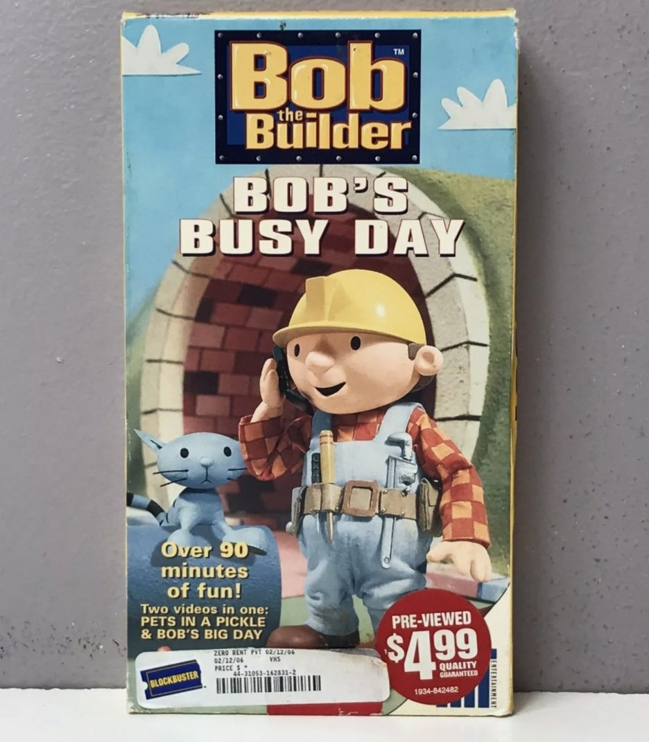 Bob the Builder: Bob's Busy Day (2001 VHS)