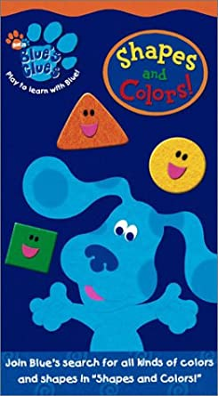 Blue's Clues: Shapes and Colors! (2003 VHS)