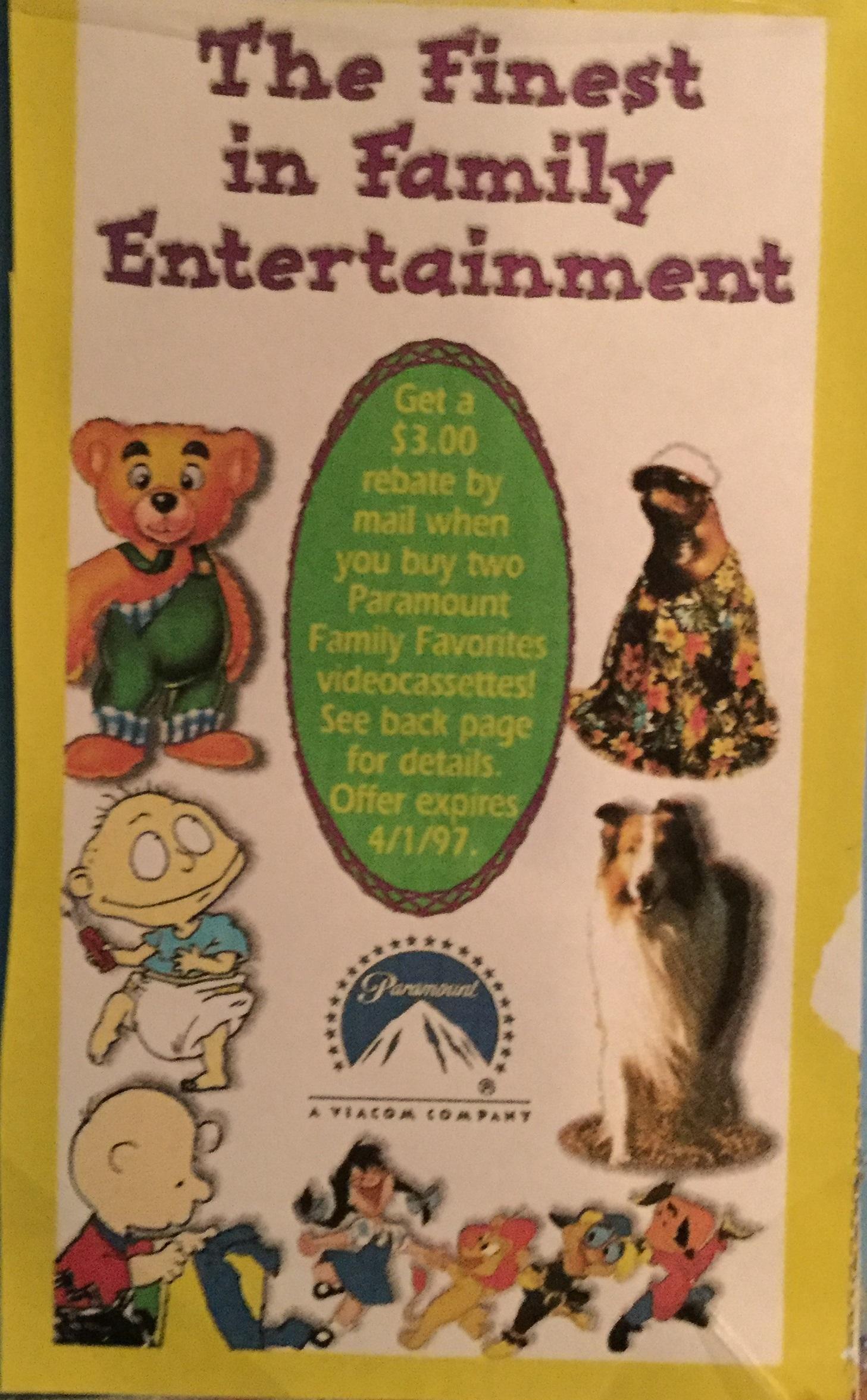 Paramount Family Favorites Catalog (Fall 1996)