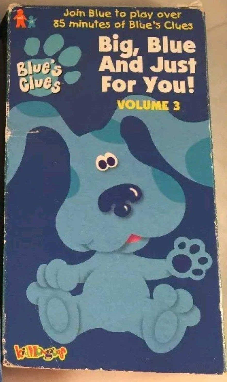 Blue's Clues: Big, Blue and Just for You! Volume 3 (1999 VHS)