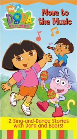 Dora the Explorer: Move to the Music (2002 VHS)