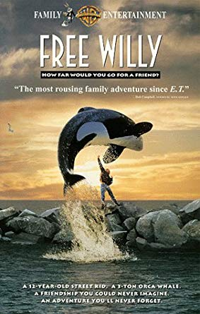 Free Willy (1993-2000 VHS)