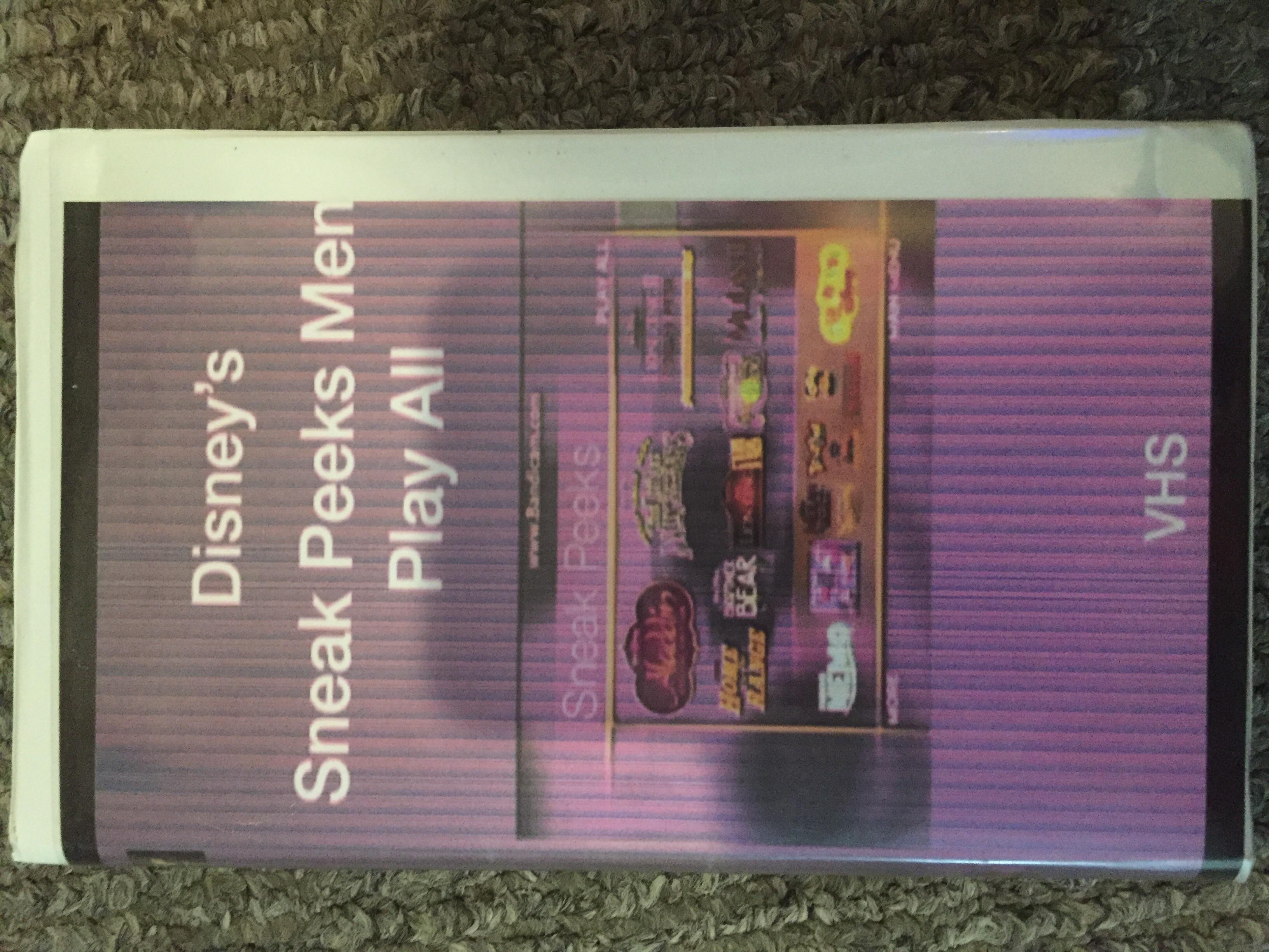 Sneak Peeks Menu Play All Volume 1 (2004 VHS)