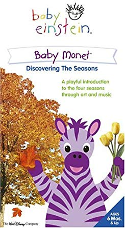 Baby Einstein: Baby Monet Discovering the Seasons (2005 VHS)