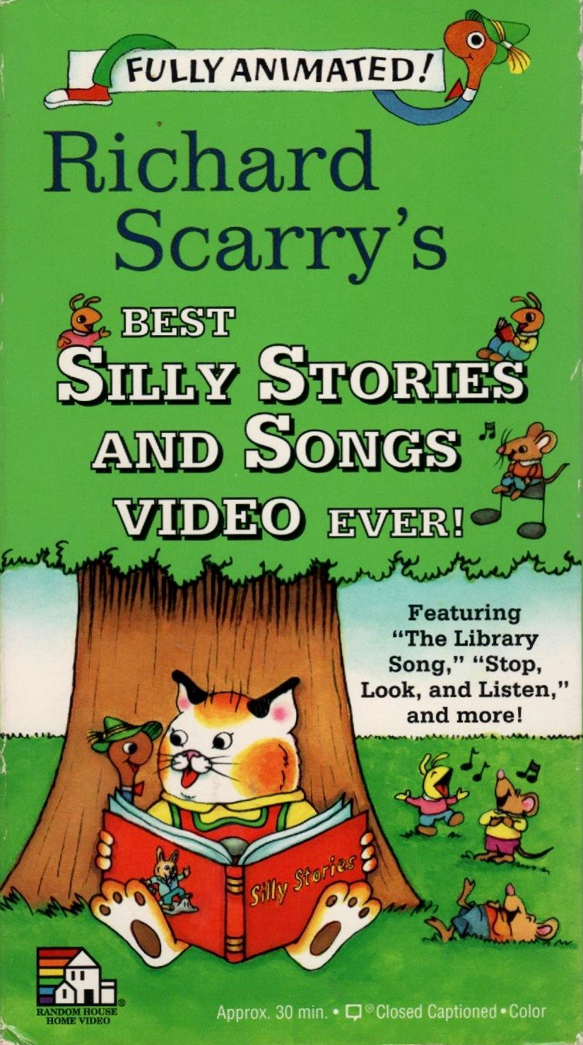 Richard Scarry's Best Silly Stories and Songs Video Ever! (1994 VHS)