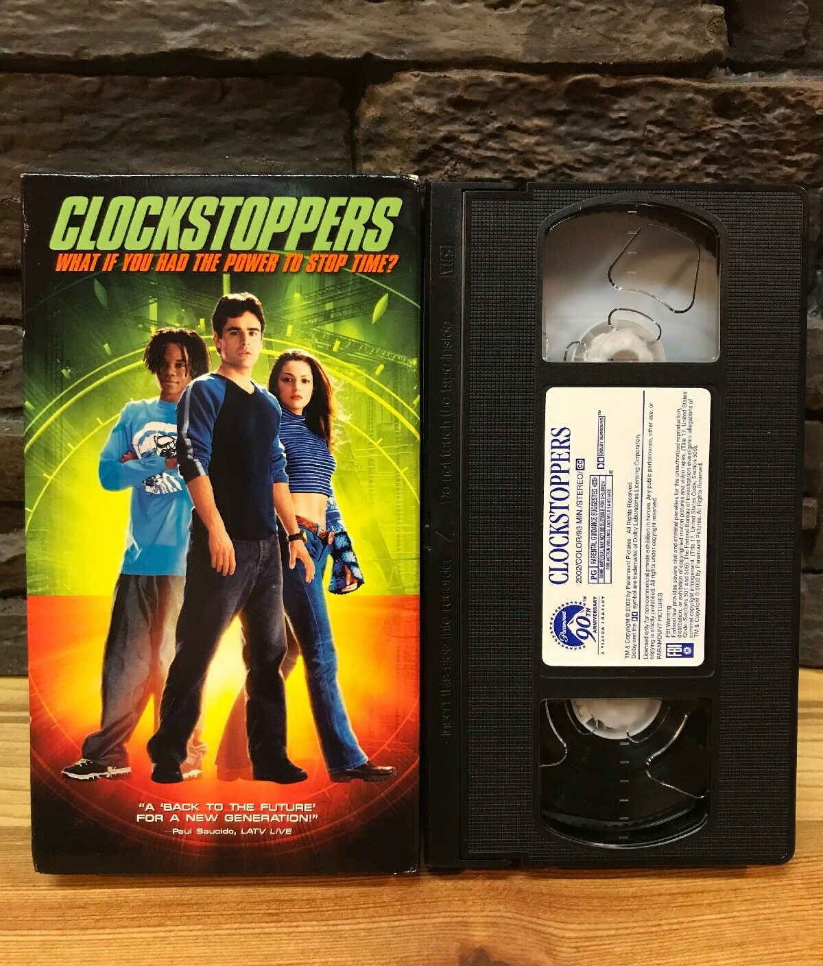 Clockstoppers (2002 VHS)