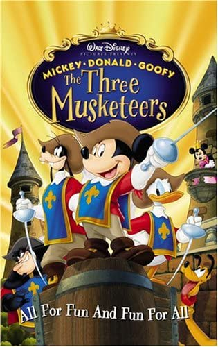 Mickey, Donald, Goofy: The Three Musketeers (2004 DVD/VHS)