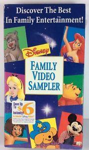 Disney Family Video Sampler (1994-1996 VHS)