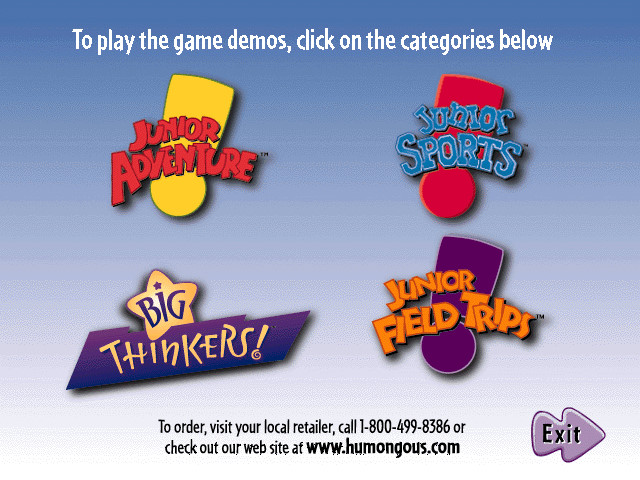 Humongous Entertainment Product Catalog (Spring/Summer 1998)