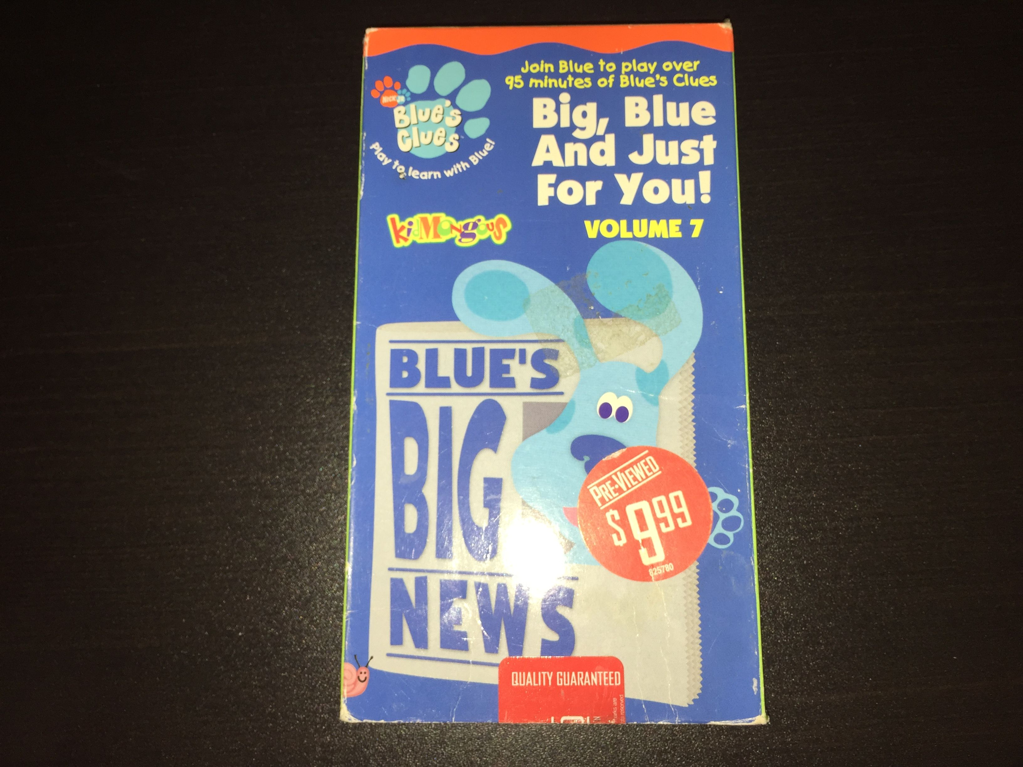 Blue's Clues: Big, Blue and Just for You! Volume 7 (2002 VHS)