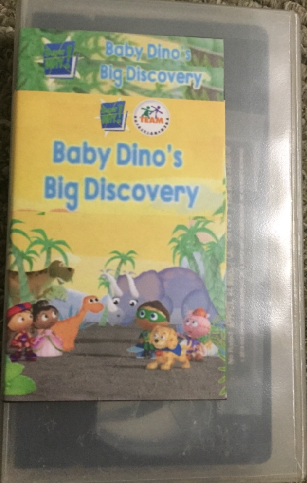Super Why! Baby Dino's Big Discovery (2018 VHS)
