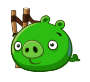 Свинья с рогатка