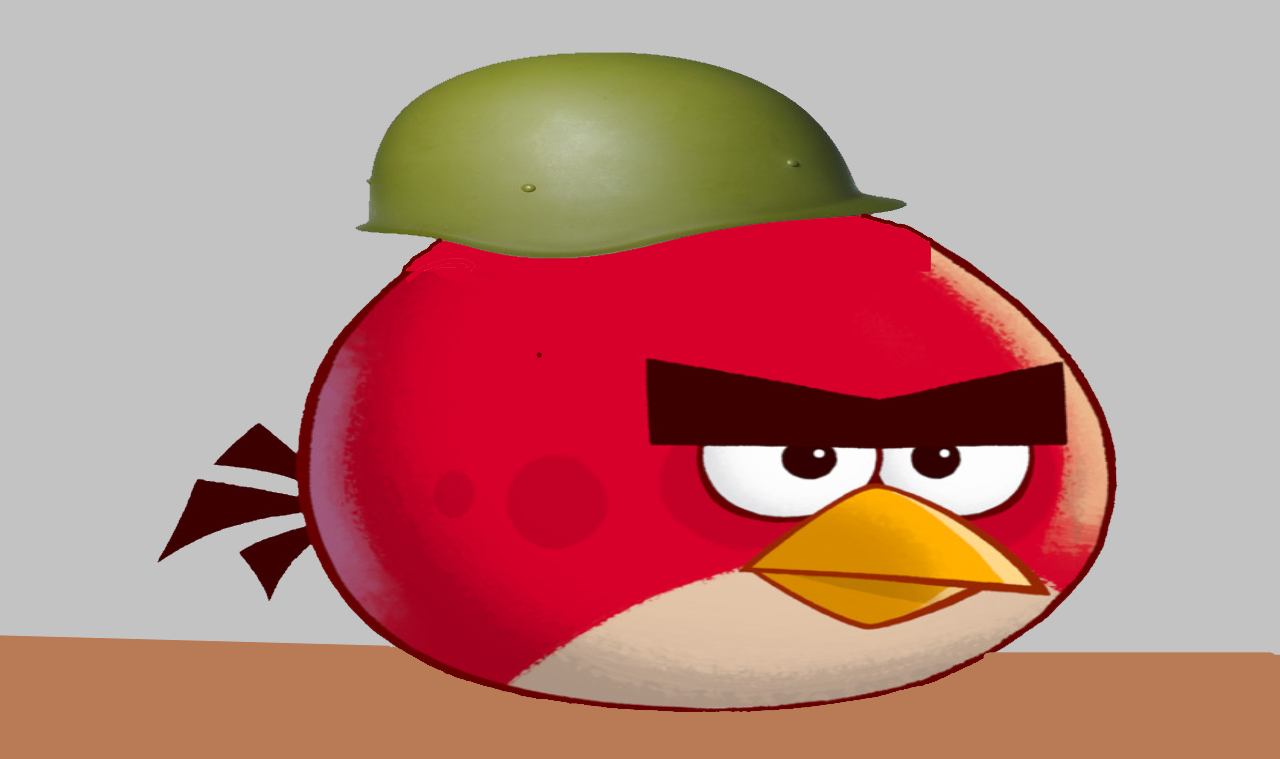 Angry birds: the feathers of the war