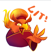 Fire Rooster Sticker