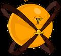 Надутая космическая оранжевая птица