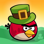 Angry Birds Seasons Square Icon Go Green, Get Luck