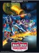 Angry Birds Transformers Comic Con poster 2