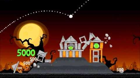 Official Angry Birds Seasons Walkthrough Trick or Treat 2-4