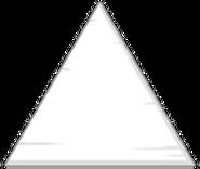 Large White Wooden Triangular Block