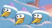Синие птицы зимой