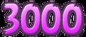 Purple 3,000 Points Sticker