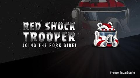 NEW! Angry Birds Star Wars 2 Carbonite Pack character reveals Red Shock Trooper