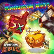 Rainbow Riot Epic Poster