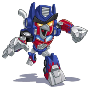 OPTIMUS PRIME RED RUNNING TRANSPARENT