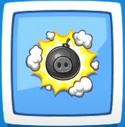 Cerdo Explosivo Angry Birds Friends Efecto