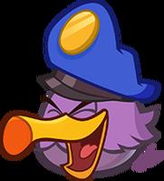 Laughing purple eagle