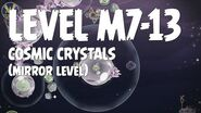 Angry Birds Space Cosmic Crystals Level M7-13 Mirror World Walkthrough 3 Star