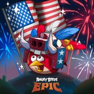 Red USA Epic Poster