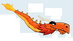 The Mighty Dragon no background