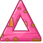 Pink Wood Triangular Block
