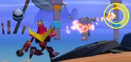 Rodimus Prime Attacking