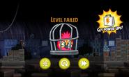 Angry Birds Rio - проигрыш