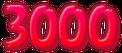 Red 3,000 Points Sticker