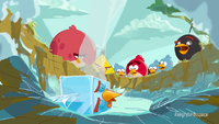 Angry Birds Space trailer Ice Bird lands on earth
