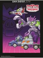 Angry Birds Transformers Deceptihogs Poster