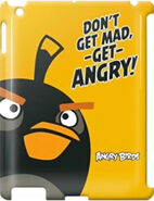 Angry Birds Gear4 Bomb Bird Don't get mad, -get- ANGRY! IPad 3 Case