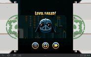 Angry Birds Star Wars - проигрыш