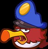 Injured red eagle